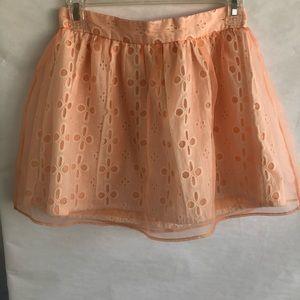 NWOT F21 Coral Eyelet Mini Skirt
